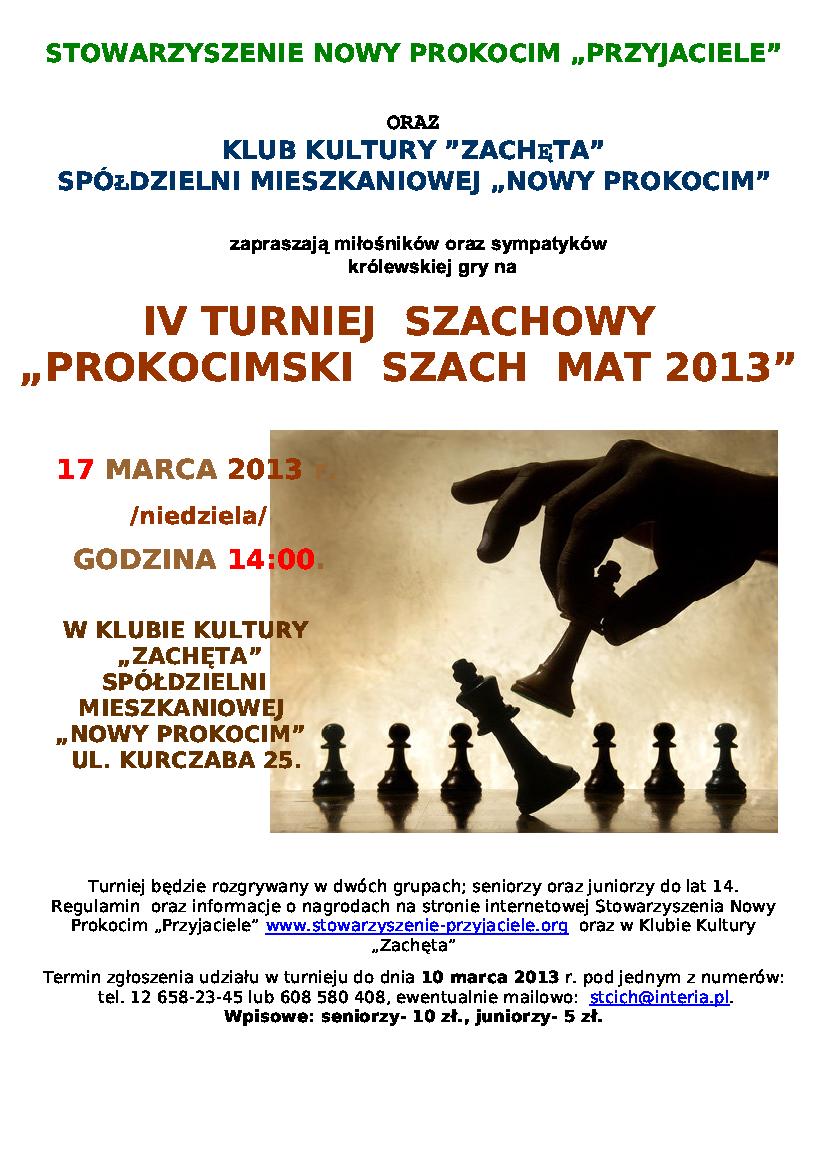 IV Turniej Szachowy Szach -Mat