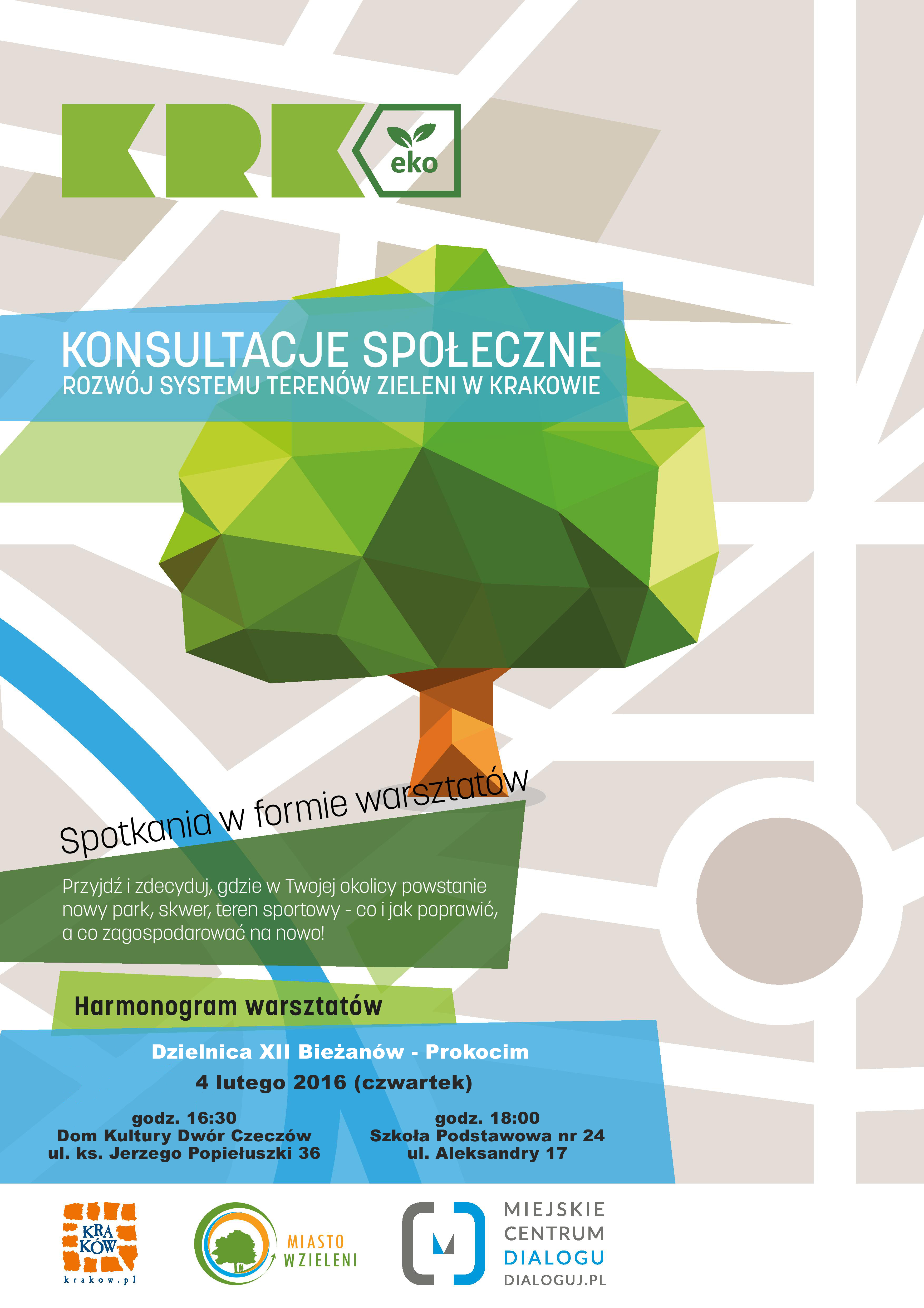 Konsultacje społeczne dot. rozwóówj terenów zeielonych w Krakowie