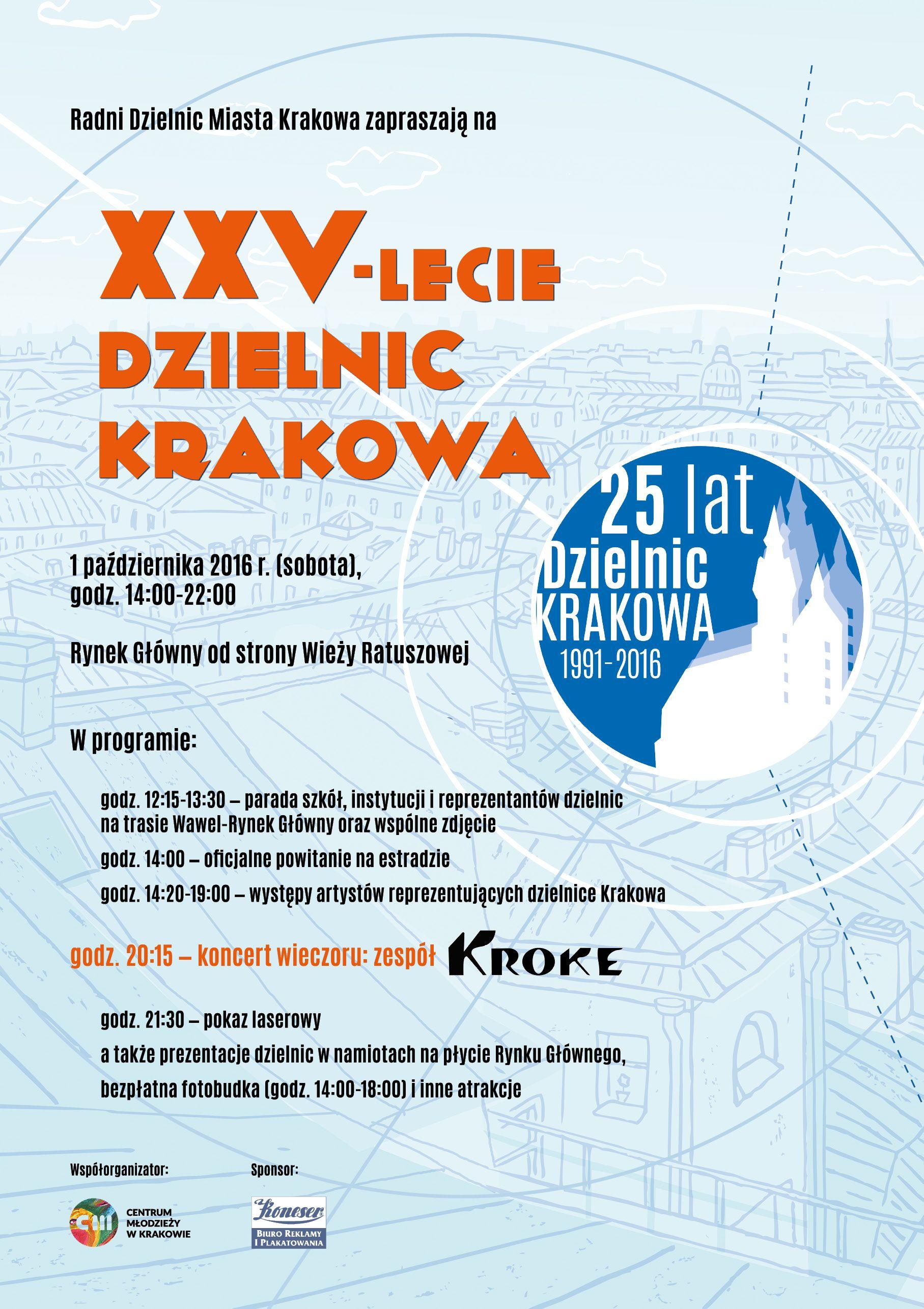 25-lecie-dzielnic-krakowa-plakat