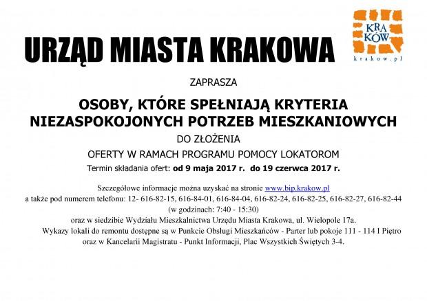 Plakat Program Pomocy Lokatorom