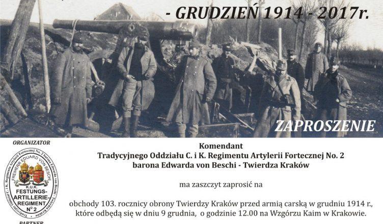 Plakat obchody rocznicy bitwy - wzgórze kaim